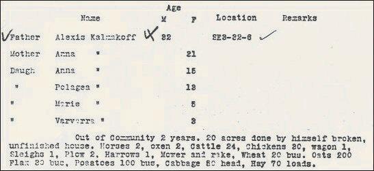 1905 census sample